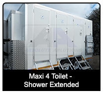 Maxi 4 toilet Shower Extended